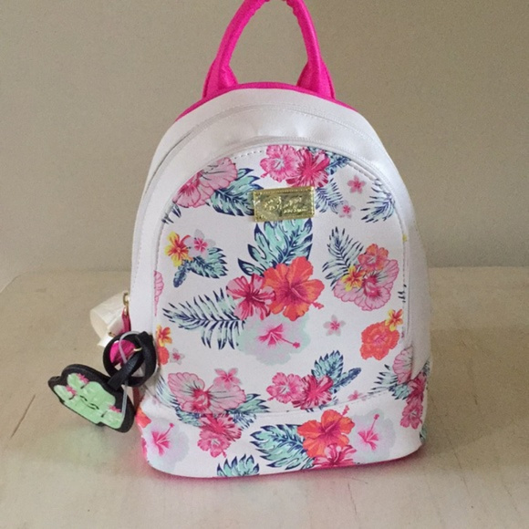 Betsey Johnson Bags Hibiscus Mini Backpack Poshmark